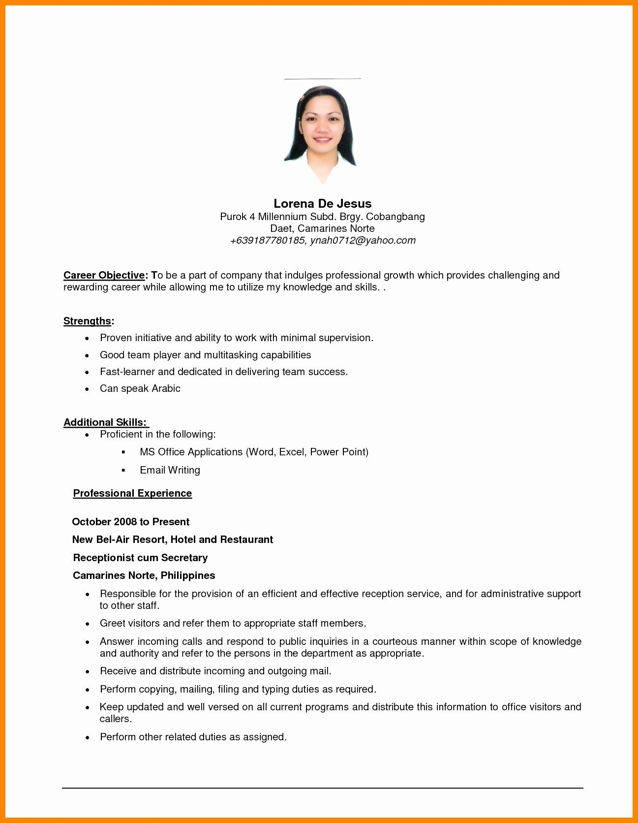 objective in resume sample for first job eeo investigator linux administrator year Resume Sample Objective For Resume First Job