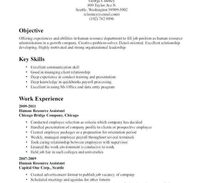 objective resume sample human resources for objectives res job samples proper win from Resume Proper Objective For Resume