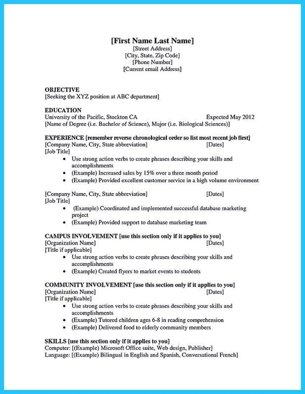 of the best ideas for to make college resume first job examples template abbreviate Resume Abbreviate Months On Resume