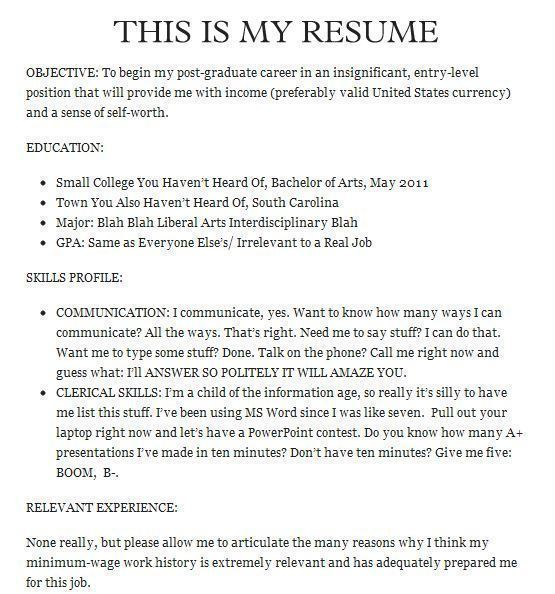of the funniest résumés and cvs you ll ever see comedian resume example 20the Resume Comedian Resume Example
