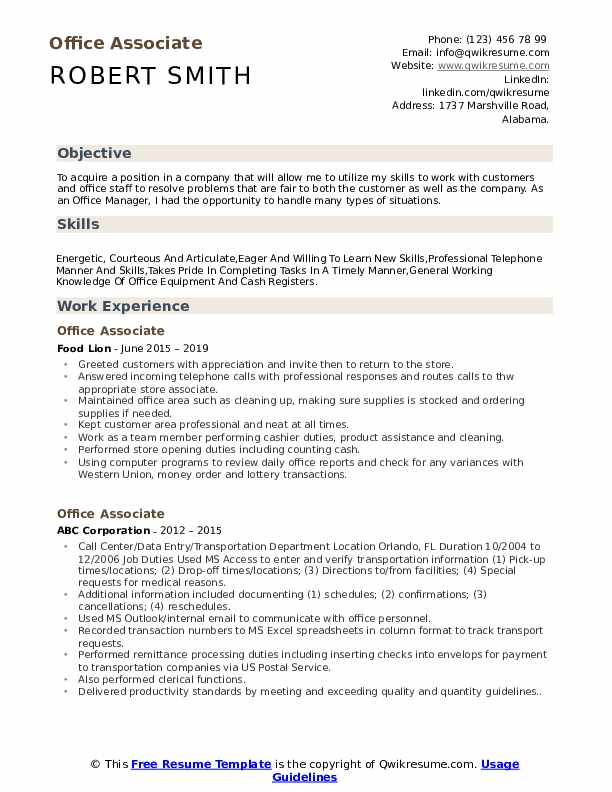 office associate resume samples qwikresume skills for pdf latest updated format chemical Resume Office Skills For Resume