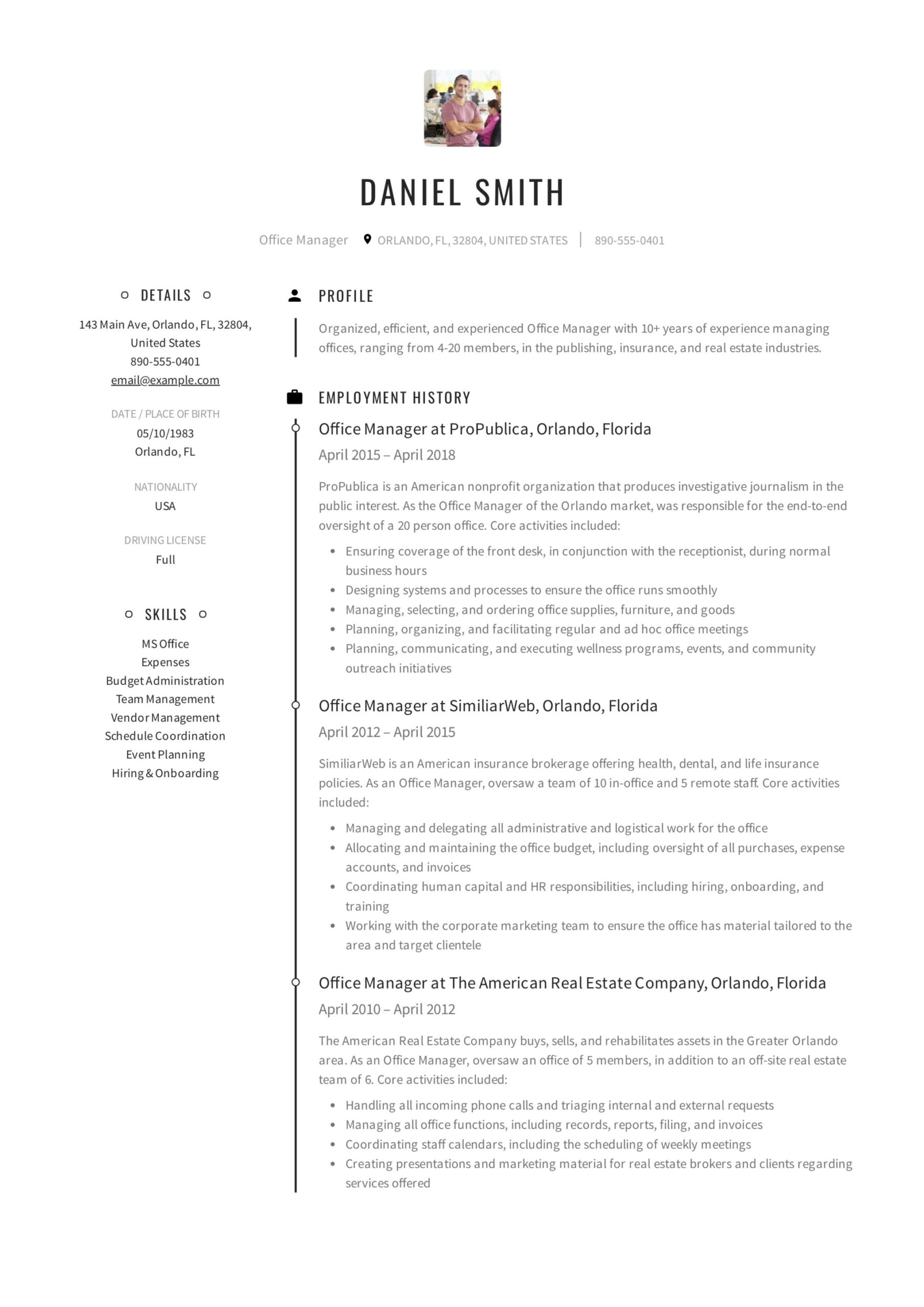 office manager resume guide samples pdf healthcare sample example professional custodian Resume Healthcare Office Manager Resume Sample