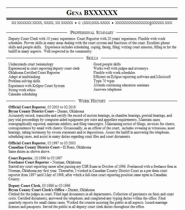 official court reporter resume example first judicial district of freelance desmond Resume Freelance Court Reporter Resume