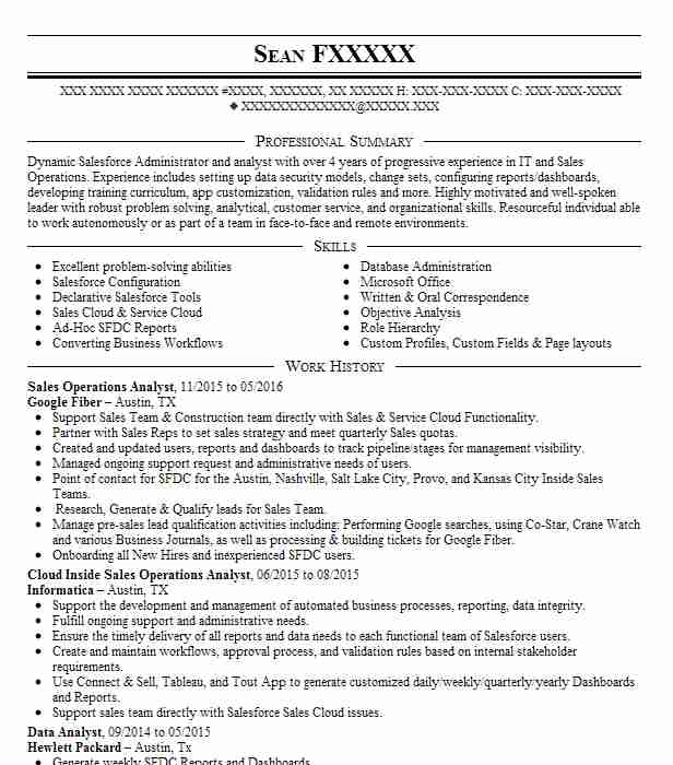 operations analyst resume example resumes livecareer best for teenager with little work Resume Best Operations Analyst Resume
