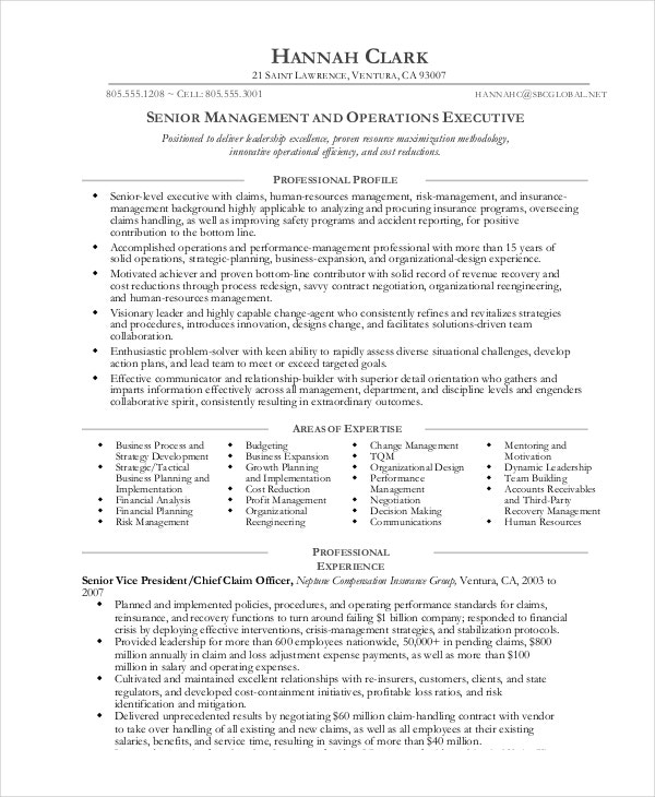 operations manager resume free sample example format premium templates for senior cover Resume Sample Resume For Senior Manager Operations