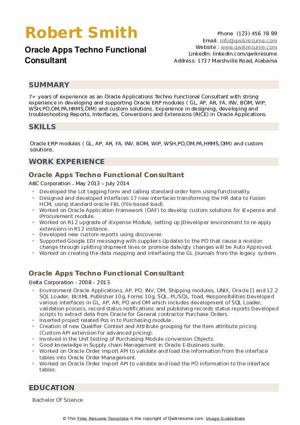 oracle apps techno functional consultant resume samples qwikresume sample pdf certified Resume Techno Functional Consultant Resume Sample