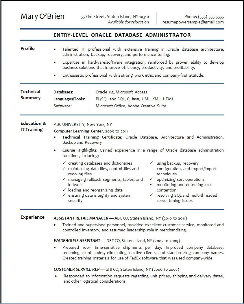 oracle database resumes yasem game life entry level resume Resume Entry Level Oracle Dba Resume