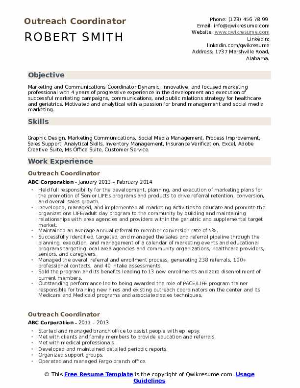 outreach coordinator resume samples qwikresume community pdf format of and cover letter Resume Community Outreach Coordinator Resume