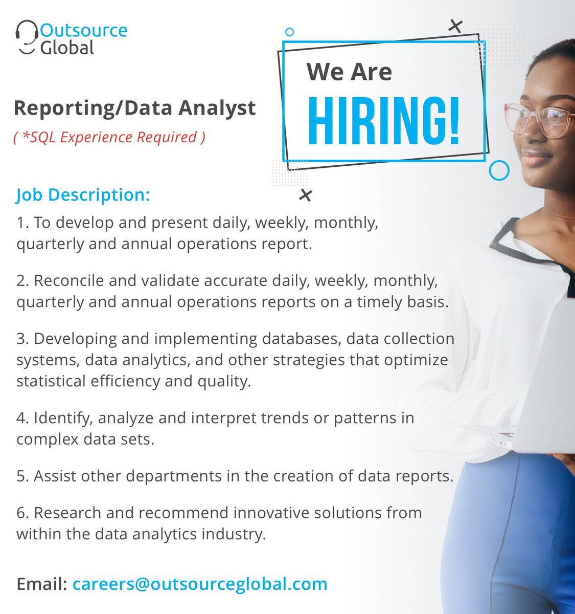 outsource global on here an opportunity to join our team think you are great fit make Resume Resume Outsource Experience