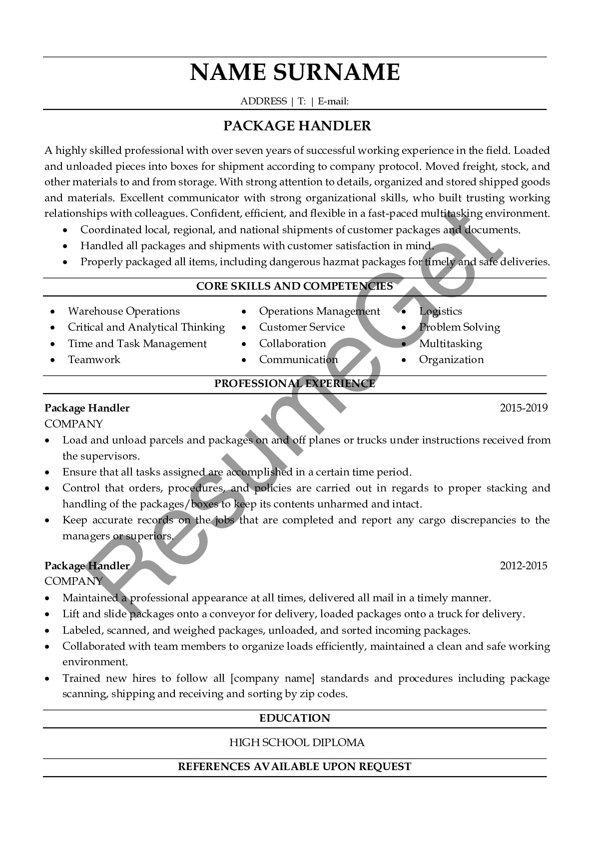 package handler resume examples resumeget skills creating that stands out playlist office Resume Package Handler Skills Resume