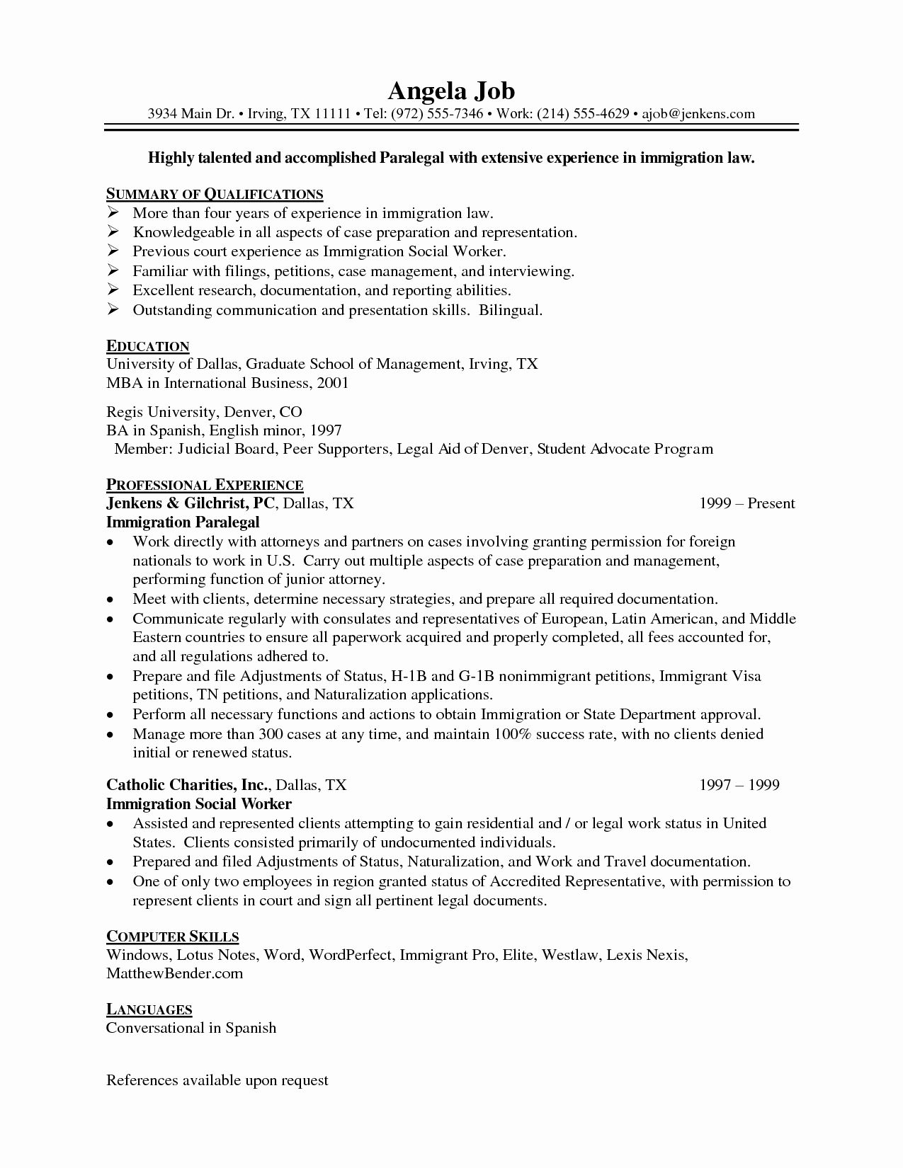 paralegal job description resume awesome best format for professionals and in student Resume Immigration Paralegal Job Description Resume