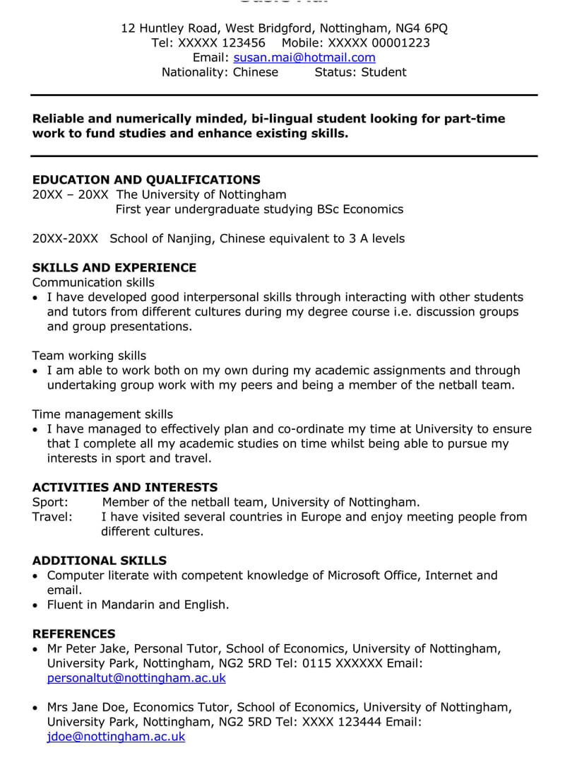 part time job cover letter sample letters examples first resume for high school student Resume First Time Job Resume For High School Student