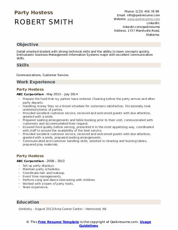 party hostess resume samples qwikresume duties of for pdf sample office position latest Resume Duties Of A Hostess For A Resume