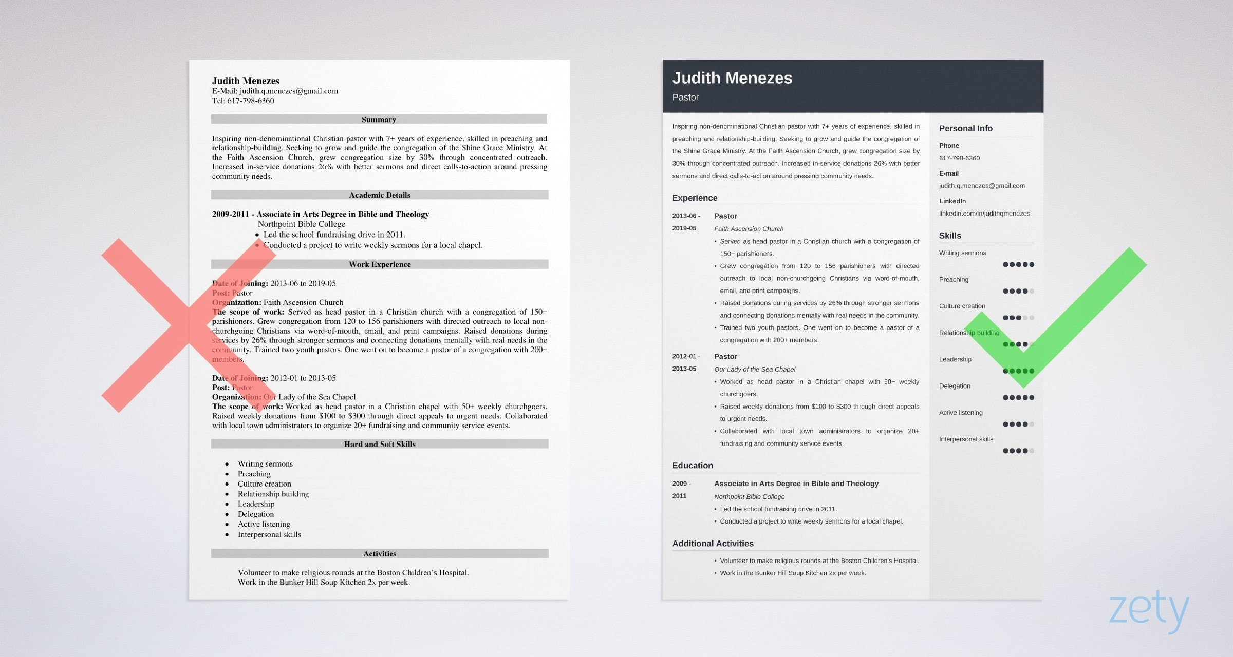 pastor resume template guide examples ministry objective example skills on customer Resume Ministry Objective Resume Examples