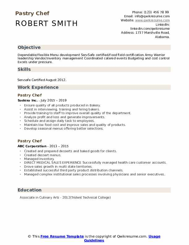 pastry chef resume samples qwikresume entry level culinary examples pdf format for bank Resume Entry Level Culinary Resume Examples