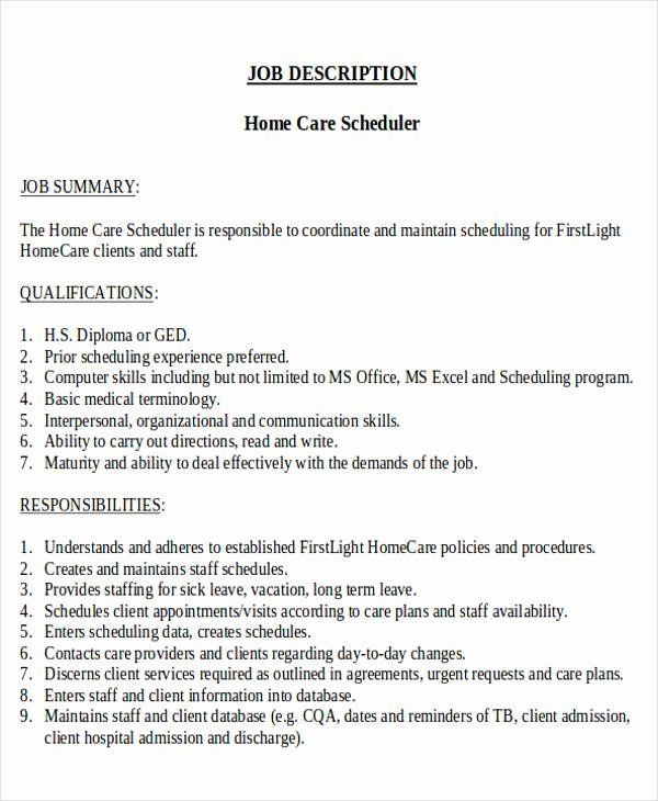 patient care coordinator job description resume unique scheduling sampl in nurse nursing Resume Resume For Scheduling Coordinator