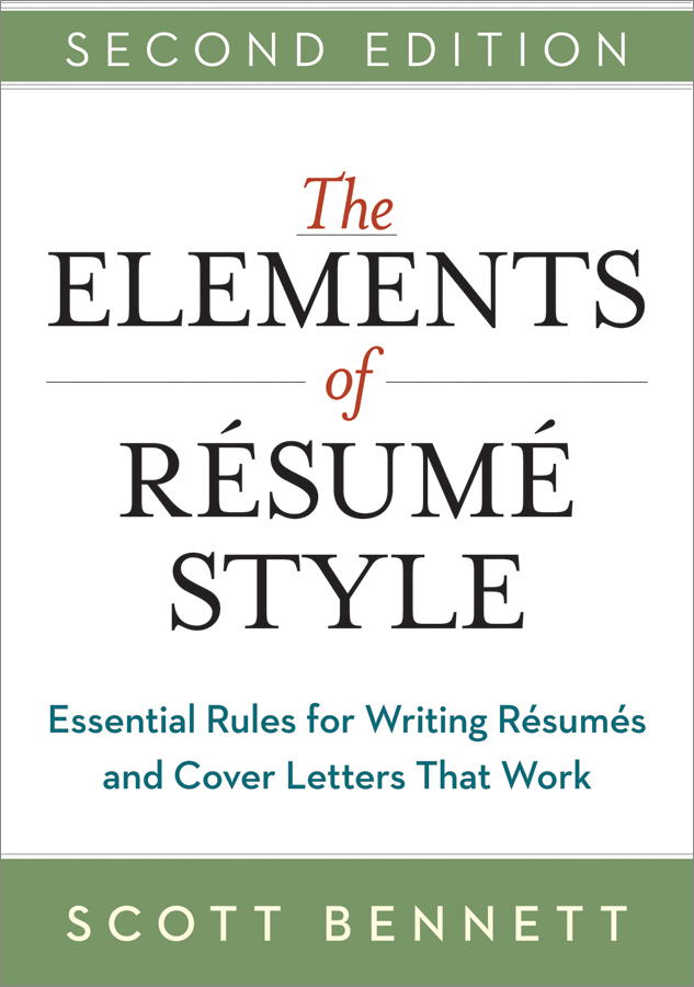 pdf the elements of resume style by perlego examples for teens insurance underwriter Resume Elements Of Resume Style