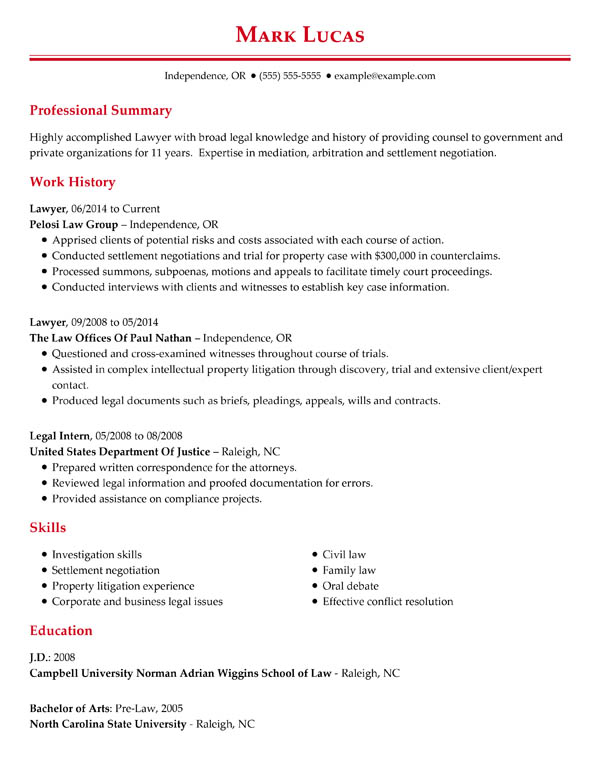 perfect resume examples for my effective professional chronological lawyer general call Resume Effective Resume Examples