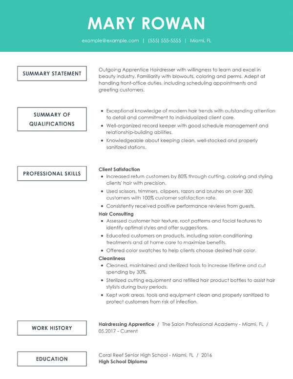 perfect resume examples for my writing winning samples simple functional entry level hair Resume Writing A Winning Resume Samples