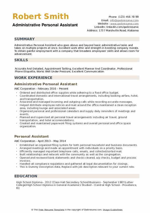 personal assistant resume samples qwikresume best pdf software engineer guide delivery Resume Best Personal Assistant Resume
