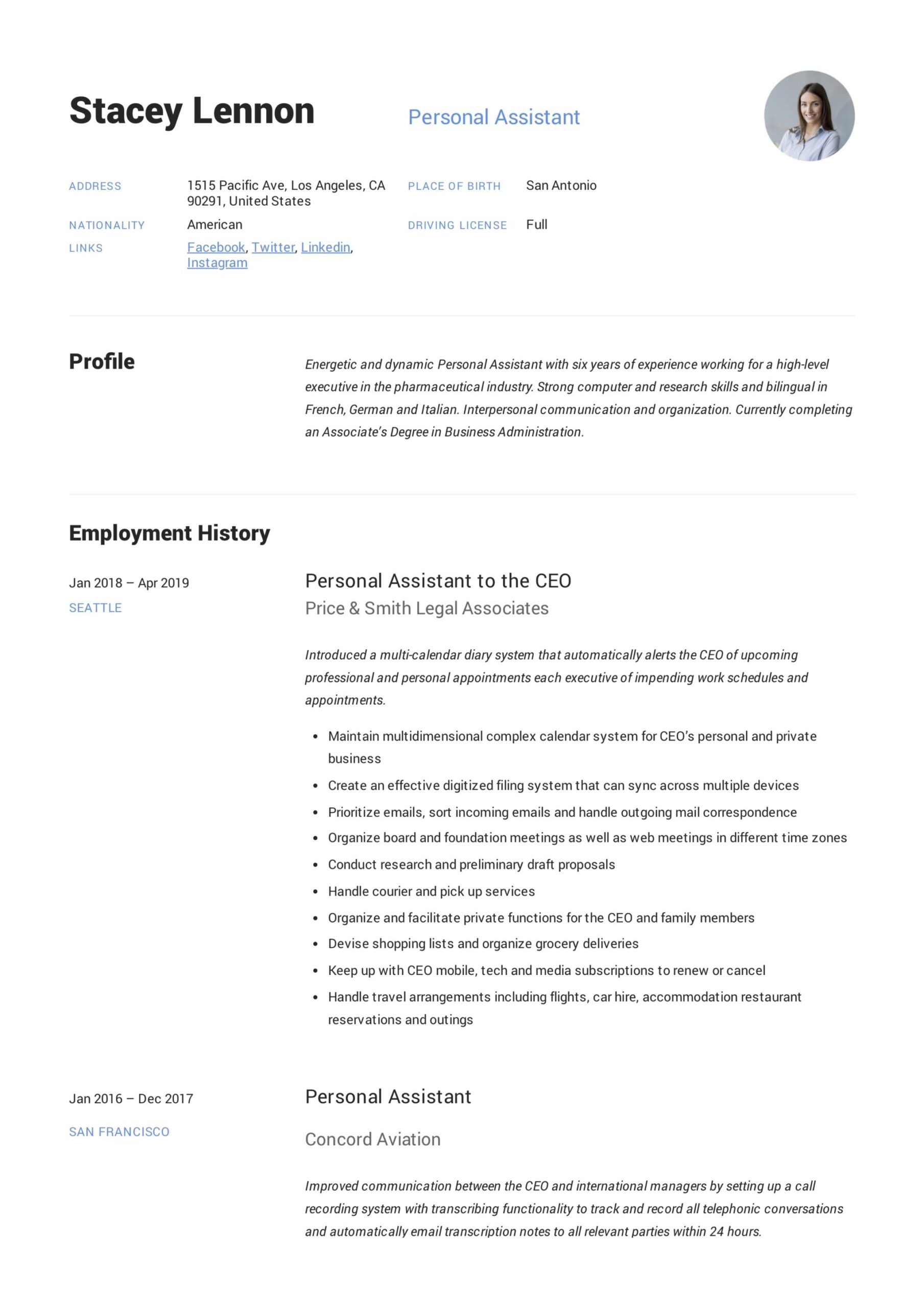 personal assistant resume writing guide templates pdf best esthetician spa electronic Resume Best Personal Assistant Resume