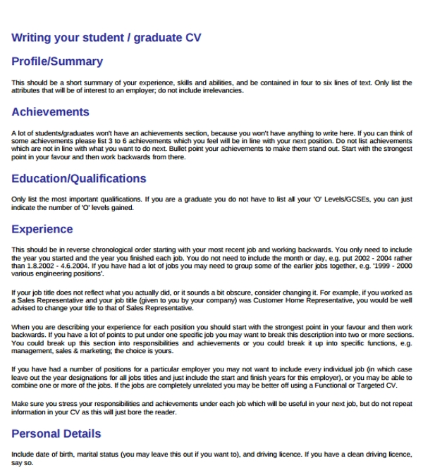 personal summary examples pdf finish your resume with short professional student profile Resume Finish Your Resume With A Short Professional Summary