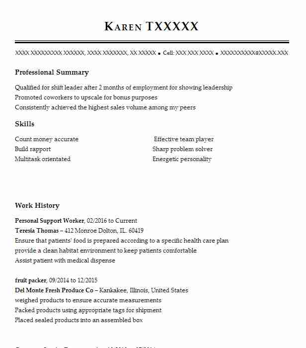 personal support worker resume example resumes misc livecareer psw qualifications best Resume Psw Qualifications Resume