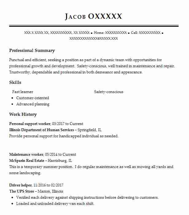 personal support worker resume example resumes misc livecareer psw qualifications Resume Psw Qualifications Resume