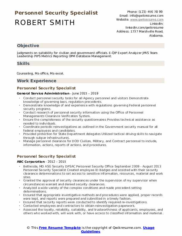 personnel security specialist resume samples qwikresume homeland pdf skills can put on Resume Homeland Security Resume