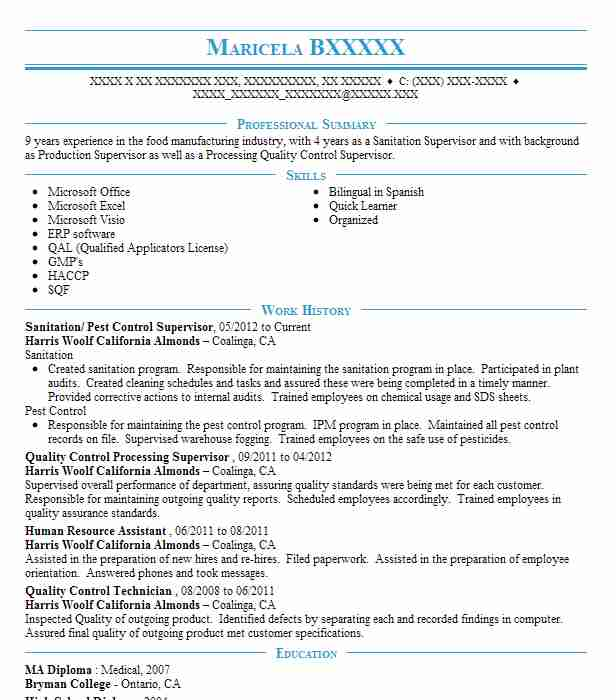pest control supervisor technician resume example lady bug central city sample software Resume Pest Control Technician Resume Sample