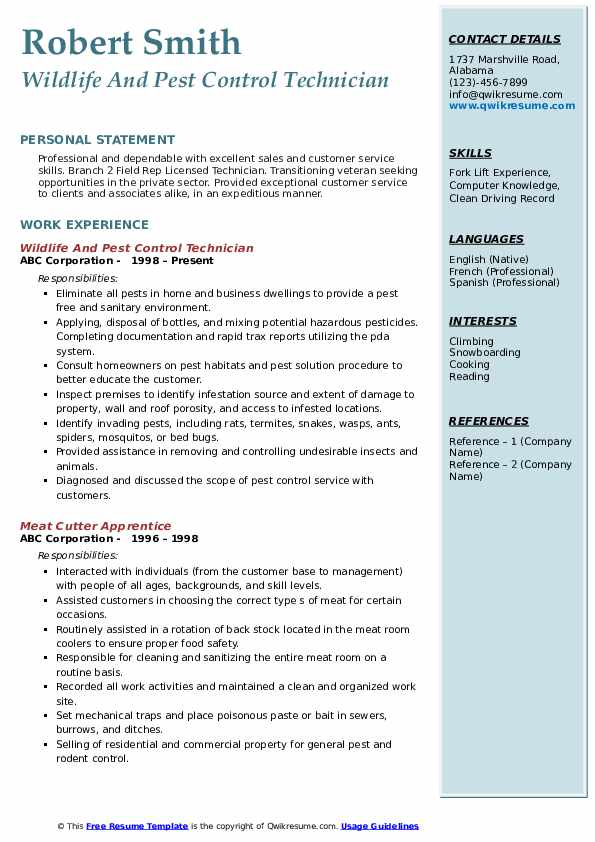 pest control technician resume samples qwikresume sample pdf folder office depot naukri Resume Pest Control Technician Resume Sample