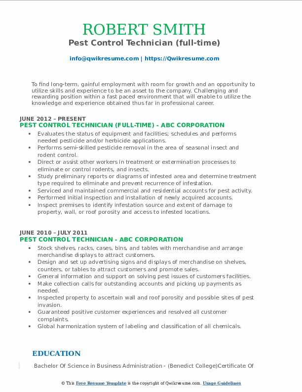 pest control technician resume samples qwikresume sample pdf hc andersen klokken project Resume Pest Control Technician Resume Sample