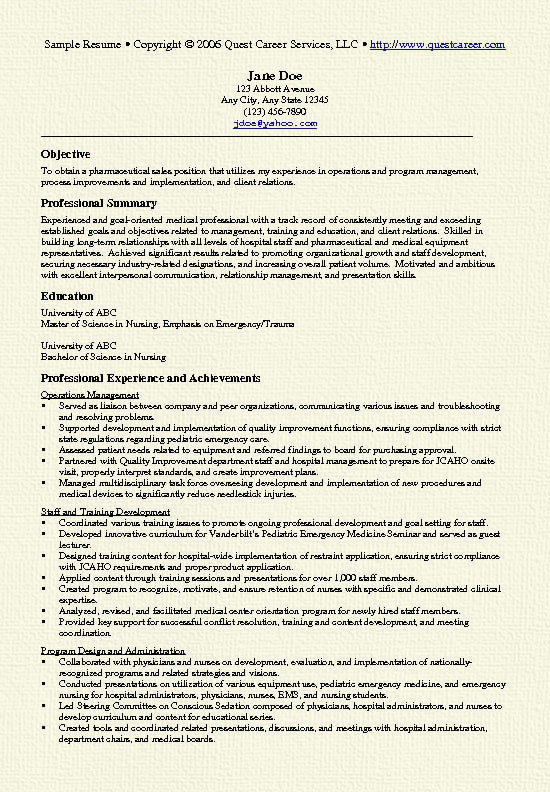 pharma resume example medical representative objective sample sales8 for first year Resume Medical Representative Objective Resume