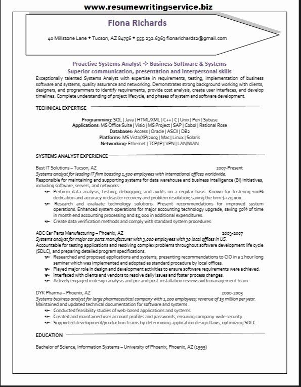 pharmaceutical qa resume sample unique systems analyst in business sap test cover letter Resume Sap Test Analyst Resume