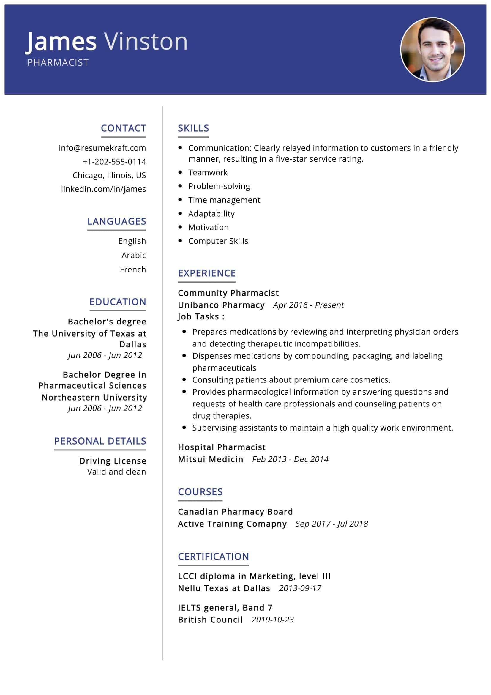 pharmacist resume sample writing tips resumekraft professional writers deakin talent Resume Professional Pharmacist Resume Writers