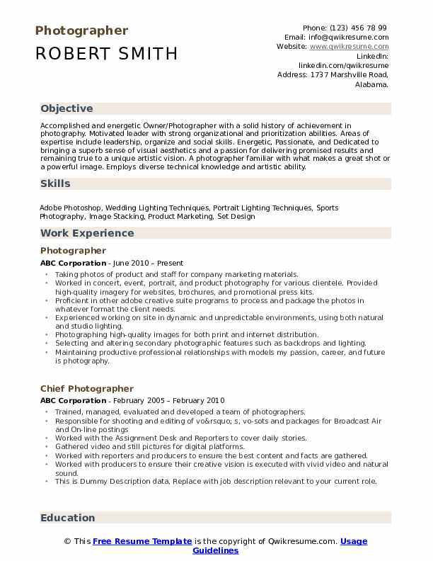 photographer resume samples qwikresume photography for beginners pdf college basketball Resume Photography Resume For Beginners