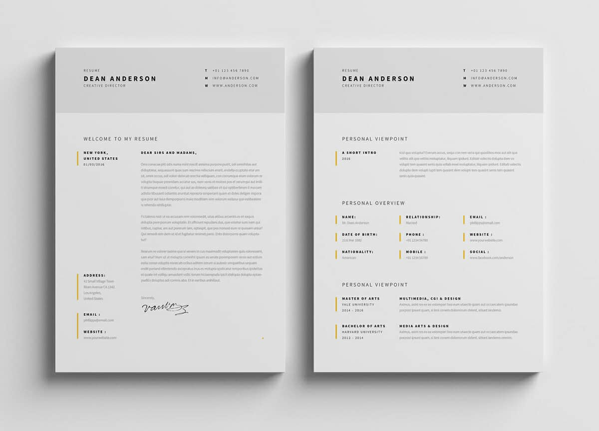 photoshop illustrator indesign resume templates free template best for marketing job good Resume Free Resume Illustrator Template