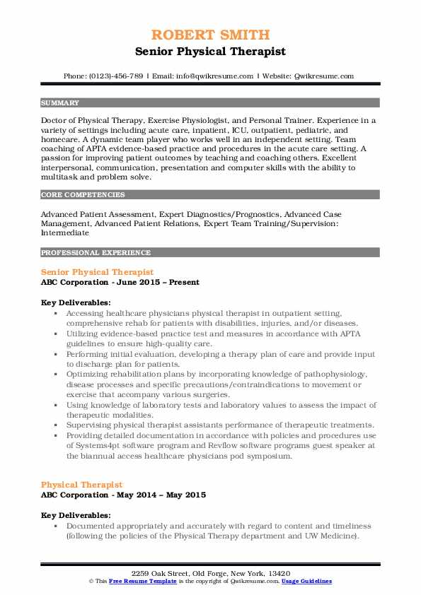 physical therapist resume samples qwikresume pdf profile content for uci template Resume Physical Therapist Resume