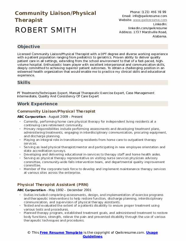physical therapist resume samples qwikresume therapy intern pdf clinique consultant parts Resume Physical Therapy Intern Resume