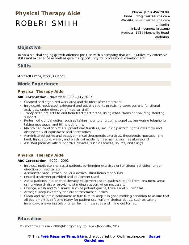 physical therapy aide resume samples qwikresume intern pdf mice and men volunteer ideas Resume Physical Therapy Intern Resume