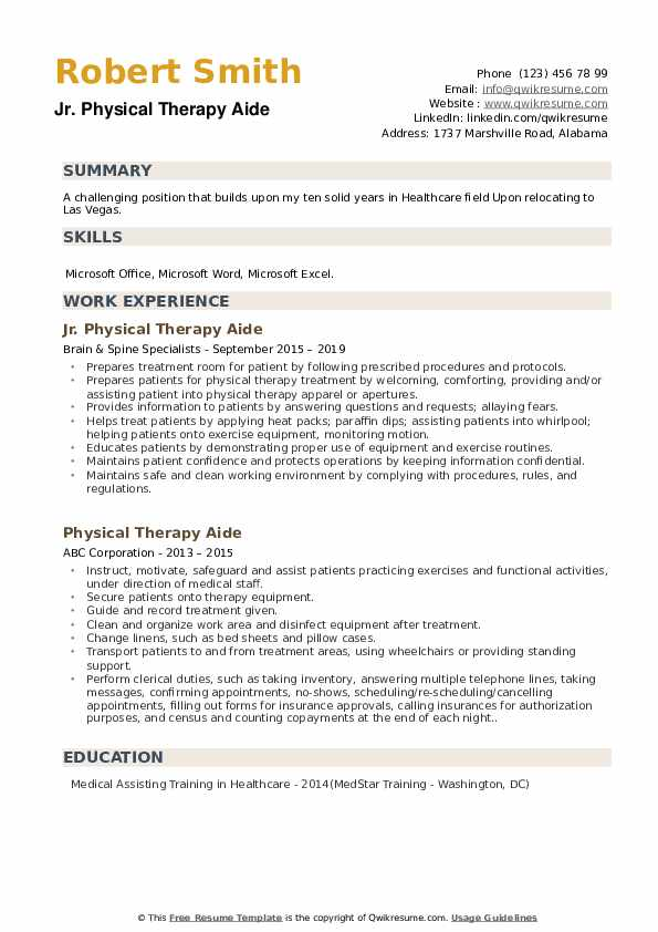 physical therapy aide resume samples qwikresume intern pdf parts department volunteer Resume Physical Therapy Intern Resume