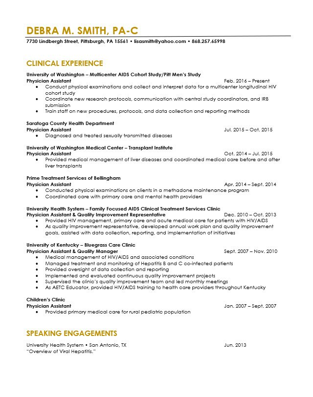physician assistant resume revision cv cover letter editing the life medical school Resume Medical School Application Resume Examples