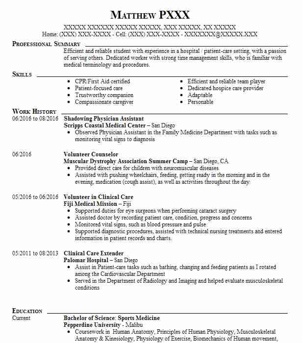 physician shadowing resume example penn medicine mount new doctor automobile engineer Resume Shadowing A Doctor Resume