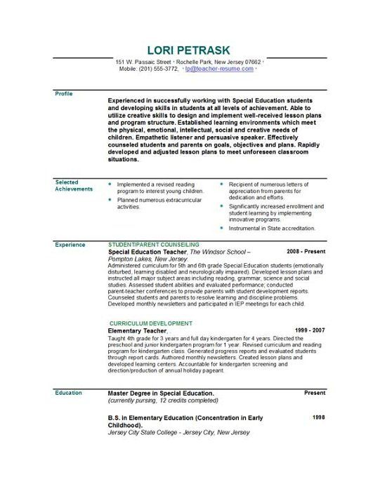 pin by lindsey schor on teacher resume examples education teaching template military Resume Education Resume Template