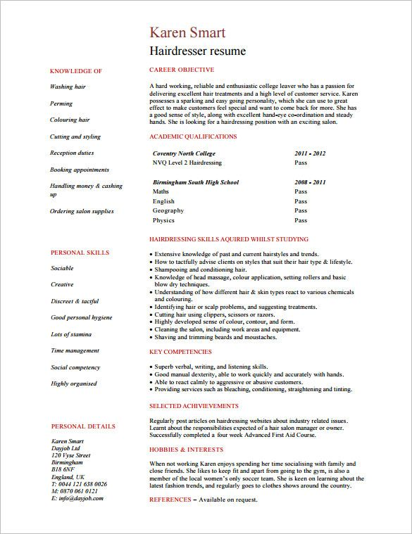 pin on fashion stylist tips and portafolio hair resume template detailed for nurses le Resume Hair Stylist Resume Template