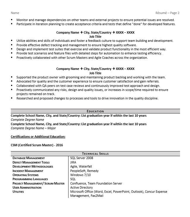 pin on imp resume sample for scrum master transition samples best summary software Resume Resume Sample For Scrum Master