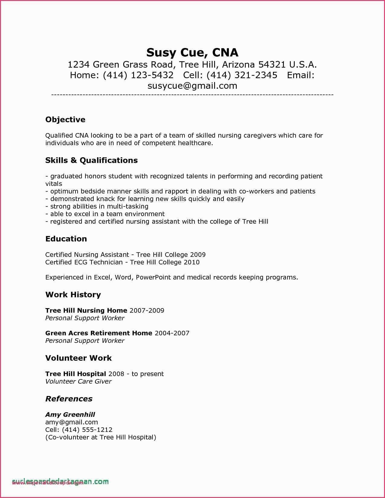 pin on sample resume format cna for hospital email writing sending with certifications Resume Cna Resume For Hospital