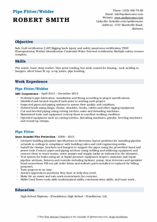 pipe fitter resume samples qwikresume fire watch examples pdf make for job application Resume Fire Watch Resume Examples