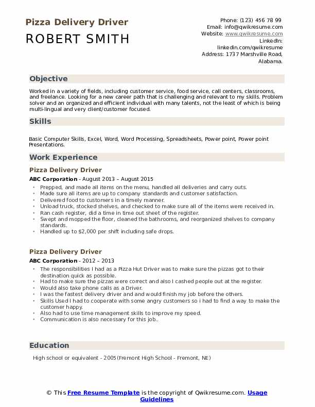 pizza delivery driver resume samples qwikresume boy sample pdf bp payments for teaching Resume Delivery Boy Resume Sample