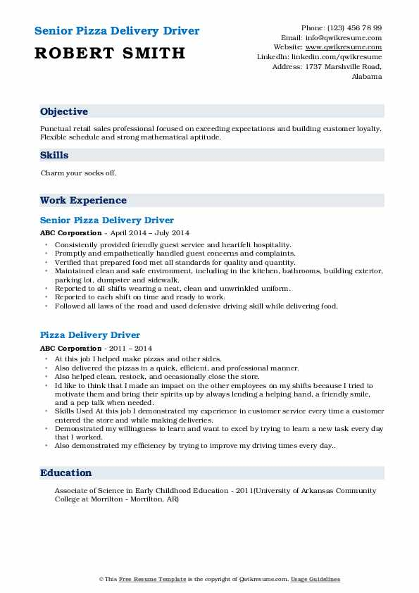 pizza delivery driver resume samples qwikresume boy sample pdf for teaching english Resume Delivery Boy Resume Sample
